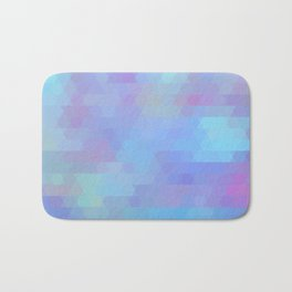 Color Vibe abstract geometric Bath Mat