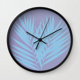 Palm Leaves #3 #Lilac #Blue #decor #art #society6 Wall Clock