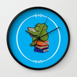 Frog Fiction Wall Clock