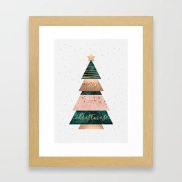 Merry Christmas Tree Framed Art Print