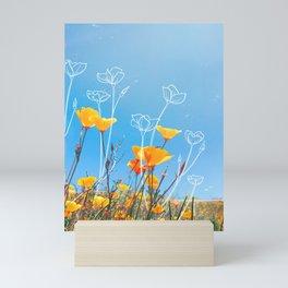 Orange Poppy Field Mini Art Print