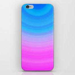 Pink & Blue Circles iPhone Skin