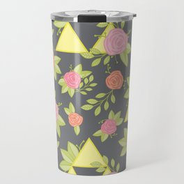 Garden of Power, Wisdom, and Courage Pattern in Grey Travel Mug