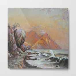 Evening by the sea Metal Print