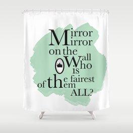 Mirror Mirror - Snow White Inspired Shower Curtain