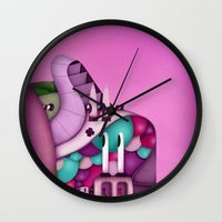 mother Wall Clocks featuring Mother by Mowis
