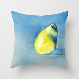 Solitary Pear Throw Pillow