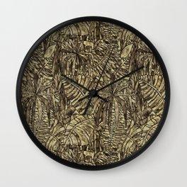 Tropical Indigo Wall Clock