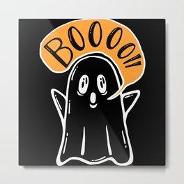Ghost Halloween Ghost October 31st Metal Print