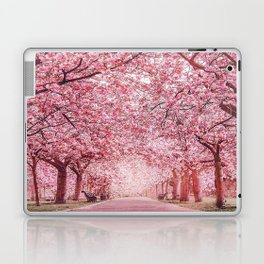 Cherry Blossom in Greenwich Park Laptop & iPad Skin