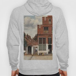 The Little Street (ca 1658) by Johannes Vermeer Hoody