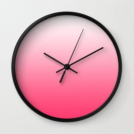 ombre pink dreams Wall Clock