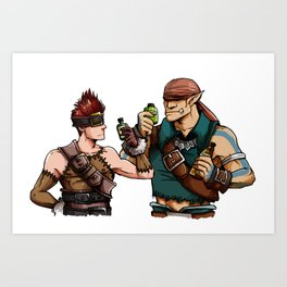 Blank and Marcus Art Print
