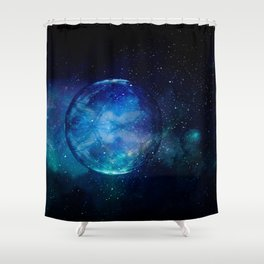 Planetary Soul Blue Souls Shower Curtain