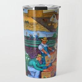 Coit Tower 'Orange Grove mural,' San Francisco, California Travel Mug