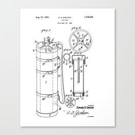 Golf Bag patent 1929 Canvas Print