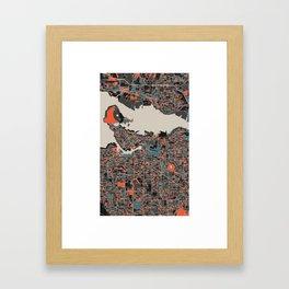 Vancouver Multicoloured Print Framed Art Print
