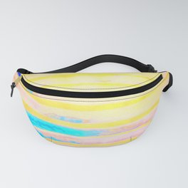 Orange Pantone Ocean Blue Lines Fanny Pack