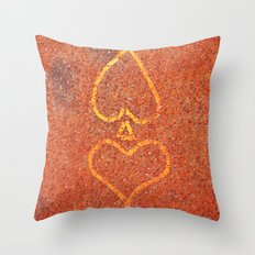 Spade and Heart Throw Pillow