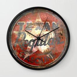 Texan - Vintage Label Wall Clock