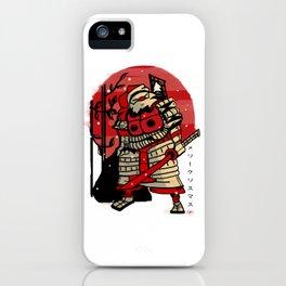 Samurai Santa iPhone Case