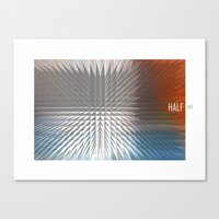 half life Canvas Prints featuring HALF LIFE by bsvc