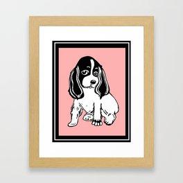 Black and White Cocker Spaniel Art Framed Art Print