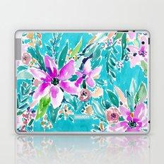 TROPICAL BENEVOLENCE Aqua Floral Laptop & iPad Skin