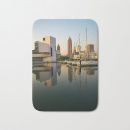 Cleveland Ohio City Skyline Harbor Gift Ideas Bath Mat