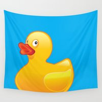 duck Wall Tapestries featuring Duck Duck by McGrathDesigns