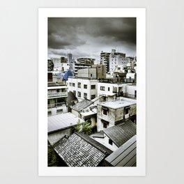 Tokyo Rooftops Art Print