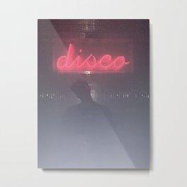 Neon Portrait Photo, Wall Art, Fine Art Print, Minimalist Photo Print, Modern Wall Decor, Nightclub Night Photography Metal Print