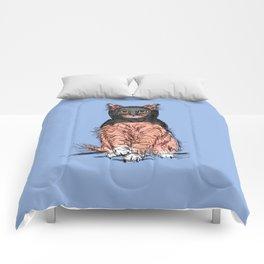 Periwinkle Pink Bat Cat Comforters
