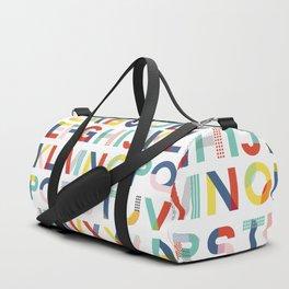 Modern Alphabet Print Duffle Bag