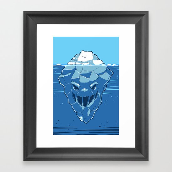 Below the Surface Framed Art Print