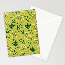 Floral background Stationery Cards