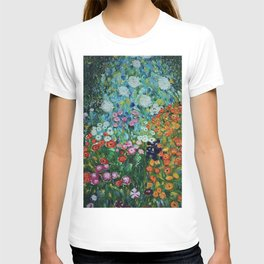 Flower Garden Riot of Colors by Gustav Klimt T-shirt