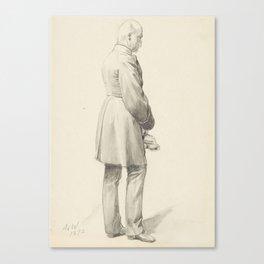 Anton von Werner, A Standing Officer Canvas Print