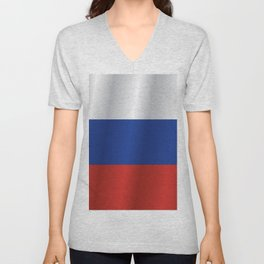 Flag of Russia Unisex V-Neck