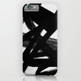 Shadow Flight - Abstract Paint iPhone Case