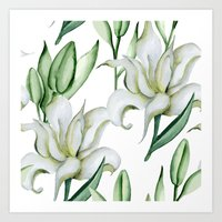 lily Art Prints featuring Lily by Julia Badeeva