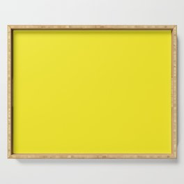 Lemon Yellow Solid Color Serving Tray