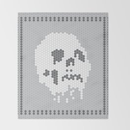 Skull Tile Throw Blanket