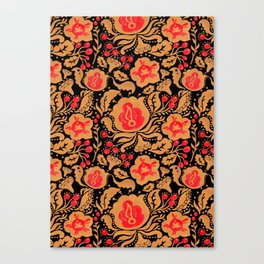 Khokhloma Kulture Pattern Canvas Print