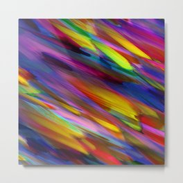 Colorful digital art splashing G398 Metal Print
