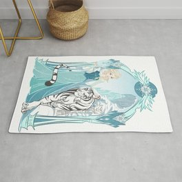 Frozen White Tiger Rug