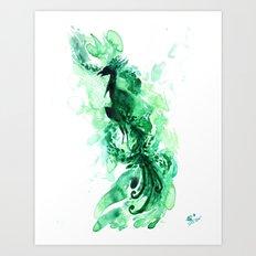 Emerald Phoenix Art Print