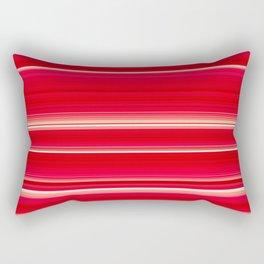 Dahlia Strawberry & Cream - Floral striped pattern Rectangular Pillow