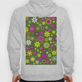 Multicolored Flower Garden Pattern Hoody
