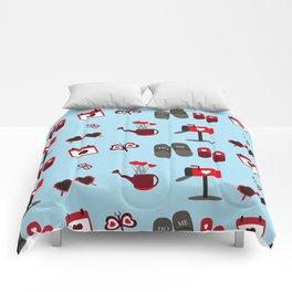 Love pattern Comforters